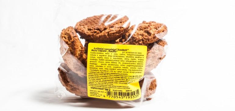 """""""Saulutė"""" avižiniai sausainiai"""
